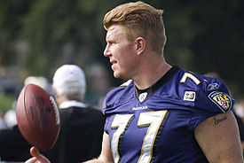 Matt_Birk_Ravens_Training_Camp_August_5,_2009