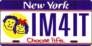 Chooselife license plate