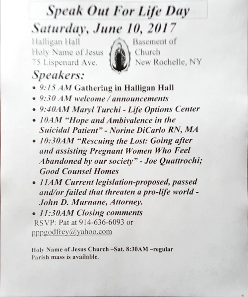 Speak Out for Life Day flier061017 (2)