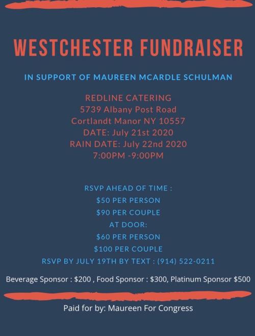 Maureen for Congress - Fundraiser 7.21.2020 - Cortlandt Manor