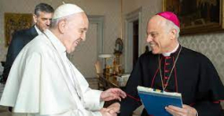 Cordileone with pope francis